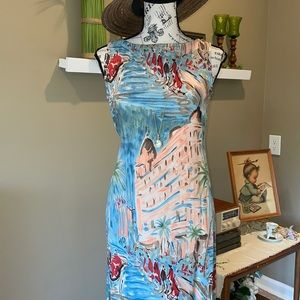 Melrose Studio Print Long Dress